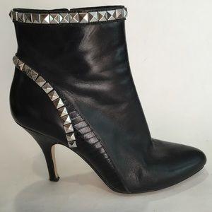 Michael Kors Leather Studded Ankle Booties Heels